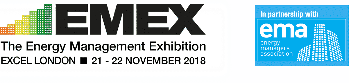 emex 2018 and EMA header the energy management exhibition logo
